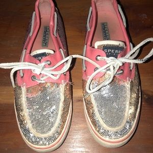 Sperry Sequin Boat Shoes